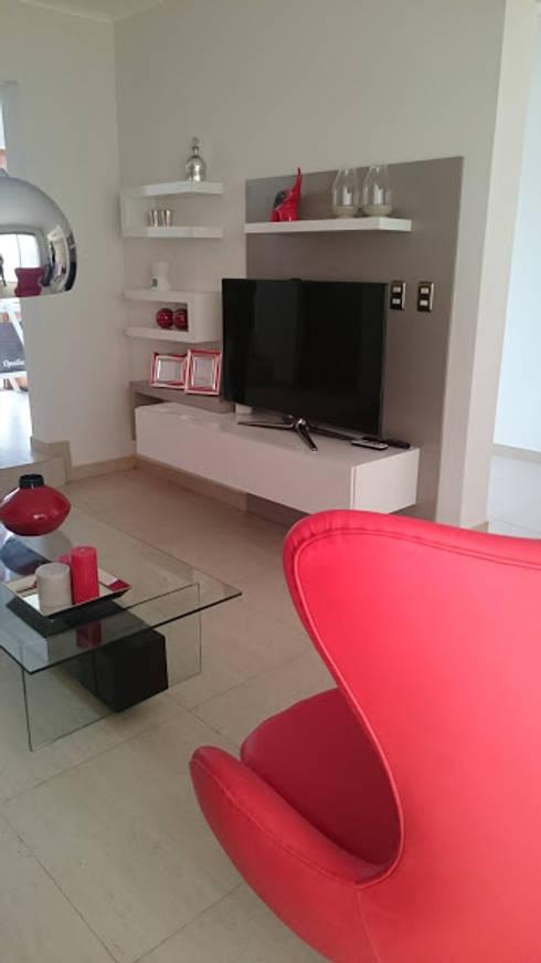 Interior Design: Livings de estilo moderno por Decotela