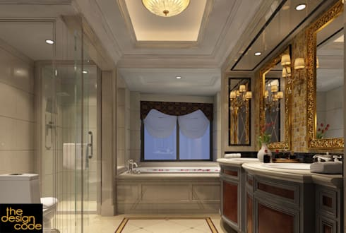 modern Bathroom by The Design Code