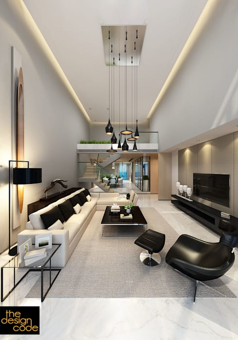 : modern Living room by The Design Code
