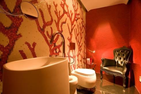 CASA MF: Baños de estilo minimalista por Complementos C.A.