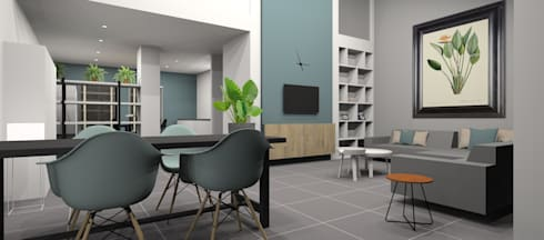 Ontwerp herinrichting woonkamer door AP-Interieurarchitect | homify