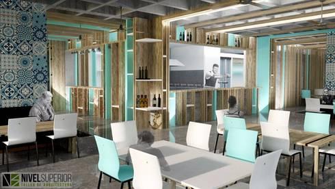 RESTAURANTE - HOTEL ENTREMARES : Comedores de estilo moderno por NIVEL SUPERIOR taller de arquitectura