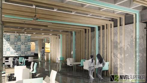 RESTAURANTE – HOTEL ENTREMARES : Comedores de estilo moderno por NIVEL SUPERIOR taller de arquitectura