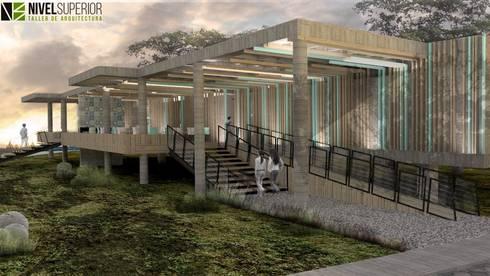RESTAURANTE – HOTEL ENTREMARES : Casas de estilo moderno por NIVEL SUPERIOR taller de arquitectura