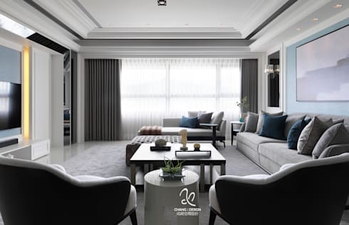 清新新古典:  客廳 by 成綺空間設計