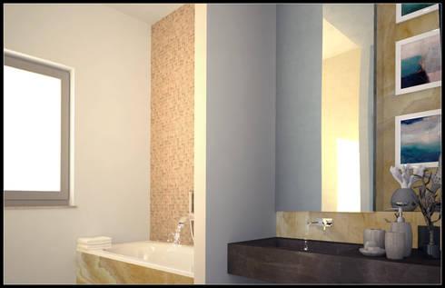 Ristrutturazione casa A.N. _ Bagno zona giorno di AG Interior Design ...