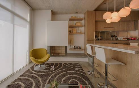 LIVING: Comedores de estilo minimalista por Martínez Arquitectura