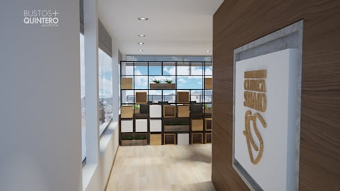 Acceso: Salas de estilo moderno por Bustos + Quintero arquitectos