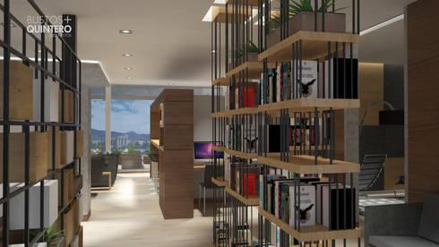 Biblioteca: Estudios y despachos de estilo moderno por Bustos + Quintero arquitectos