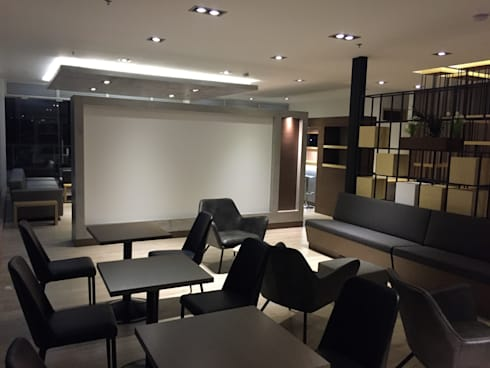 Lounge: Estudios y despachos de estilo moderno por Bustos + Quintero arquitectos