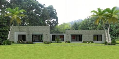 Casas Campestres : Jardines de estilo moderno por Arquitectos y Entorno S.A.S