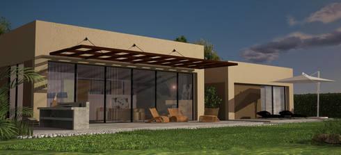Casas Campestres : Casas de estilo moderno por Arquitectos y Entorno S.A.S