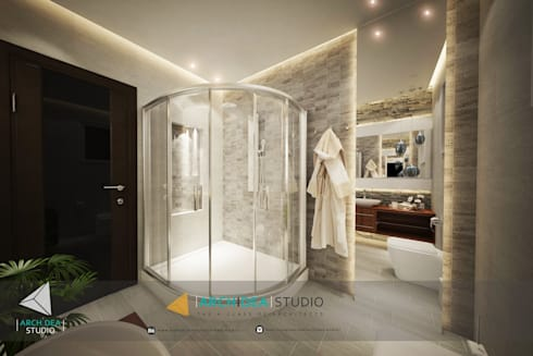 Luxury Bathroom:   by Archidea Studio