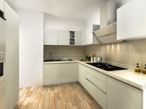 KITCHEN VIEW 1: modern Kitchen by MAD DESIGN