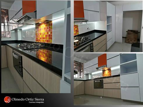 Diferentes vistas de Cocina Integral: Cocina de estilo  por Cocinas Integrales Olmedo Ortiz Sierra