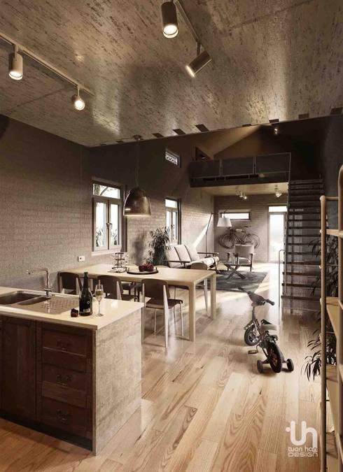 Bao Loc House:   by Tuan Han Design Studio
