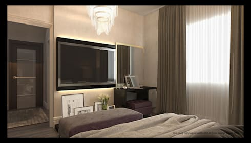 master bedroom: modern Bedroom by AL-TRASS CREATIONS DESIGN