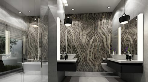 modern Bathroom by SA Architects and Partners