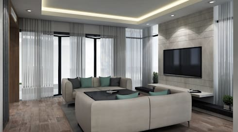 modern Living room by SA Architects and Partners