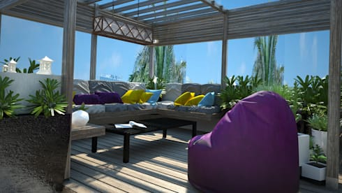 roof living room: modern Living room by AL-TRASS CREATIONS DESIGN