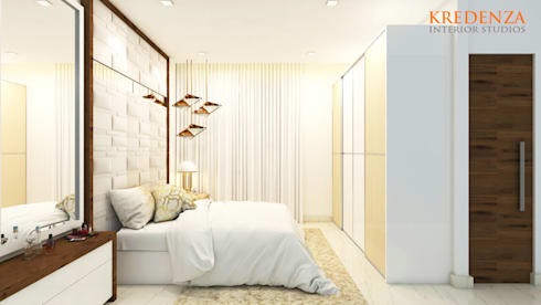 BEDROOM DESIGNS : modern Bedroom by Kredenza Interior Studios