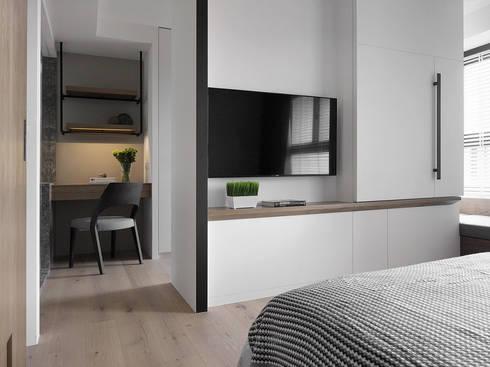 景川匯L宅:  臥室 by Ho.space design 和薪室內裝修設計有限公司