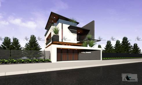 VIEW 2:  Biệt thự by AE STUDIO DESIGN
