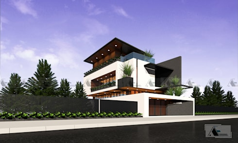 VIEW 3:  Biệt thự by AE STUDIO DESIGN