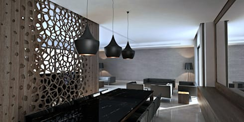 E.K. Residence Interior: modern Dining room by Uraiqat Architects