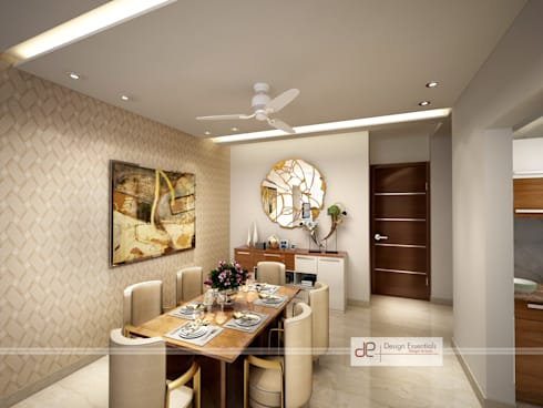 Residence at Dwarka: modern Dining room by Design Essentials