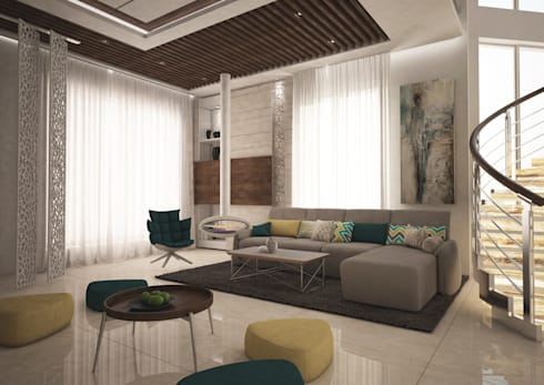 Private Villa: modern Living room by dal design office