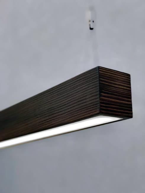 Hängeleuchte Design The Rough: moderne Wohnzimmer von Lignalux