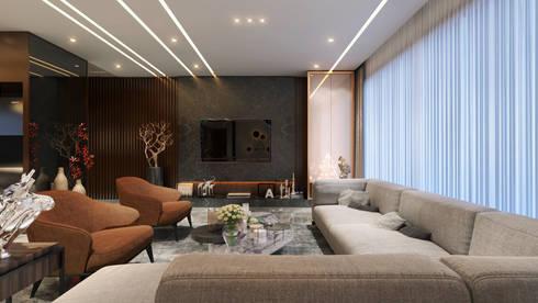living area1: minimalistic Living room by quite design