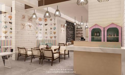 scandinavian Dining room by JESSICA DESIGN STUDIO