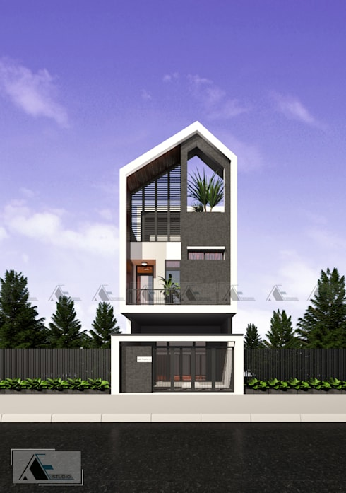 M house:  Nhà by AE STUDIO DESIGN