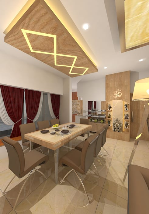 :  Dining room by Gurooji Design