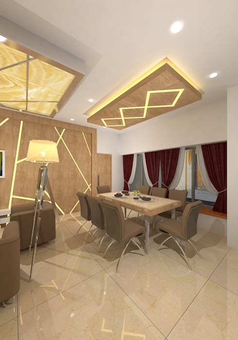 modern Dining room by Gurooji Design