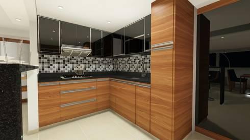 DISEÑO - MOBILIARIO COCINA: Cocina de estilo  por DIKTURE Arquitectura + Diseño Interior