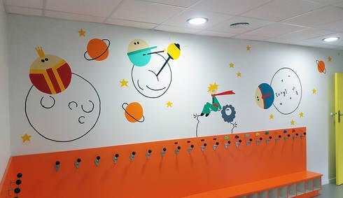 Peinture murale – Décoration accueil et vestiaire – Crèche ...