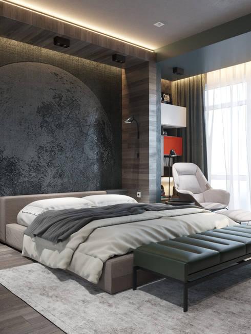 Recámaras de estilo  por Interior designers Pavel and Svetlana Alekseeva
