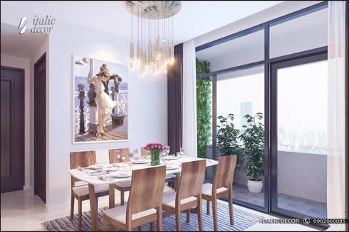 CĂN HỘ TRÀNG AN COMPLEX 02:  Phòng ăn by ITALIC DECOR