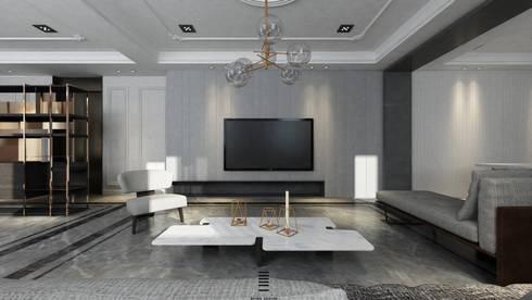 Taichung L House:  客廳 by 質覺制作設計有限公司