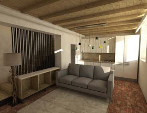 modern Living room by Grupo Norma