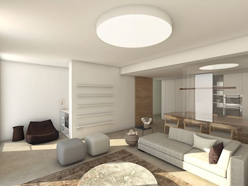 minimalistic Living room by Grupo Norma