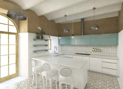 rustic Kitchen by Grupo Norma