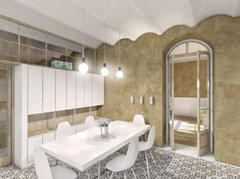 modern Dining room by Grupo Norma