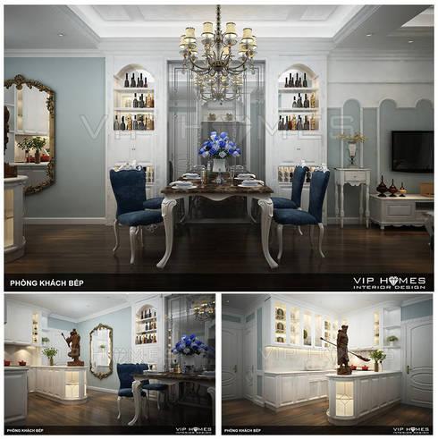 Thiết kế nội thất phòng ăn phong cách Tân Cổ Điển:   by Công ty TNHH Không Gian Mo