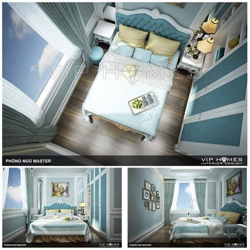 Thiết kế nội thất phòng Master phong cách Tân cổ điển:   by Công ty TNHH Không Gian Mo