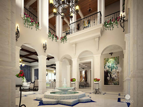 Captivating Luxury Palace Interior Design And Decor Is White Color