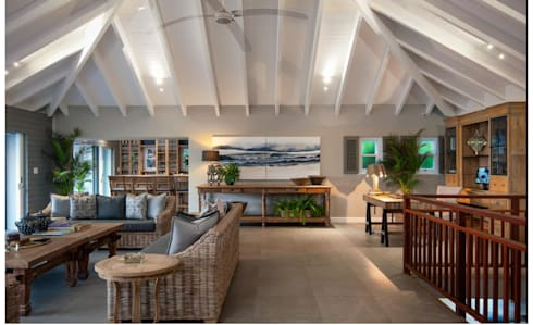 Beach Front House: eclectic Living room by JSD Interiors